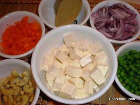 ingredients for pulav