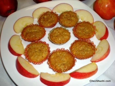 how to make apple muffins without baking powder