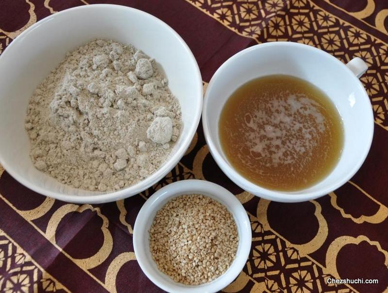 ingredients for bajre ki meethi poori