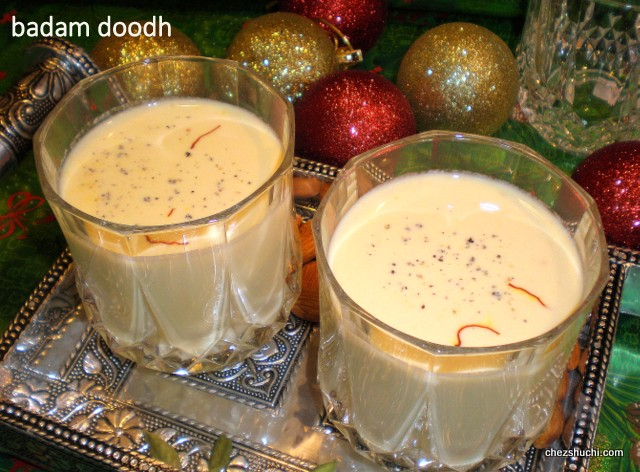 badam milk for a party
