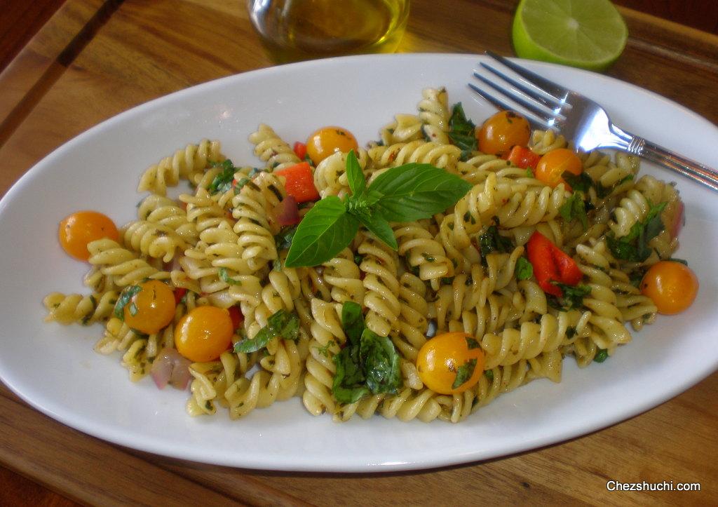 Basil Lemon Pasta- बेसिल और लेमन पास्ता