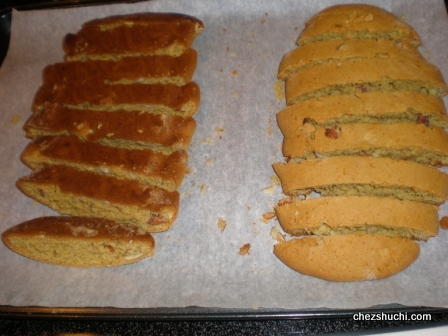 the two sides of the biscotti