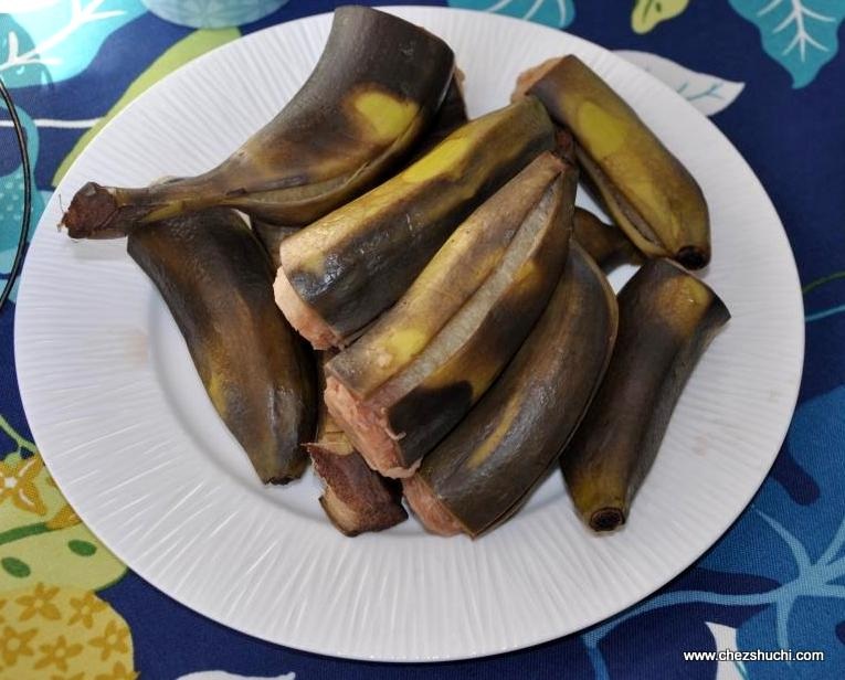 BOILED RAW BANANAS
