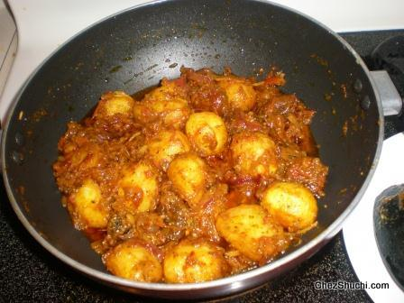 after adding fried potatoes