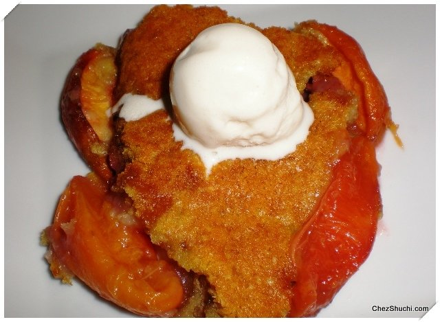 Peach and Strawberry Cobbler