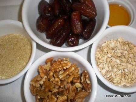 dates and sesame bars ingredients