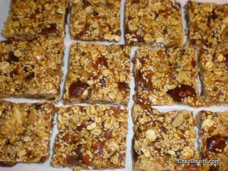 dates and sesame bars
