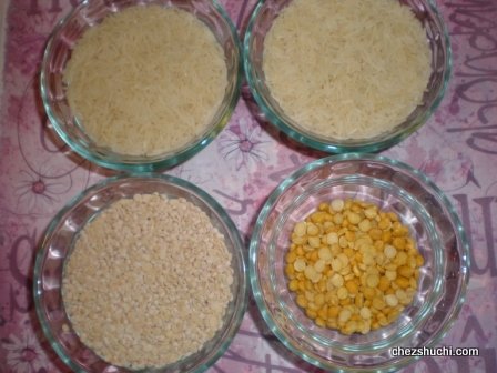 lentils and rice for dosa