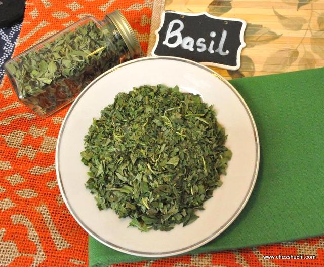 home dried basil