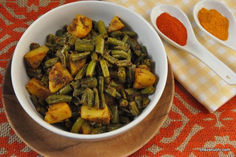 French beans and potato sabji
