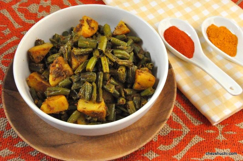 french beans aloo subji
