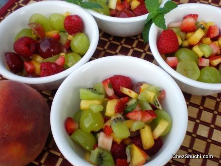 फलों की फलाहारी चाट