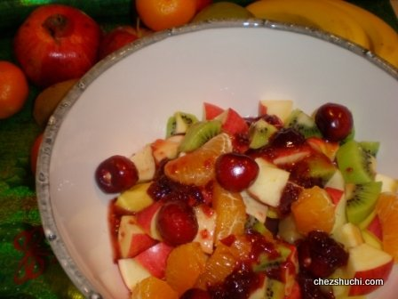 Fruit Salad With Strawberry Glaze