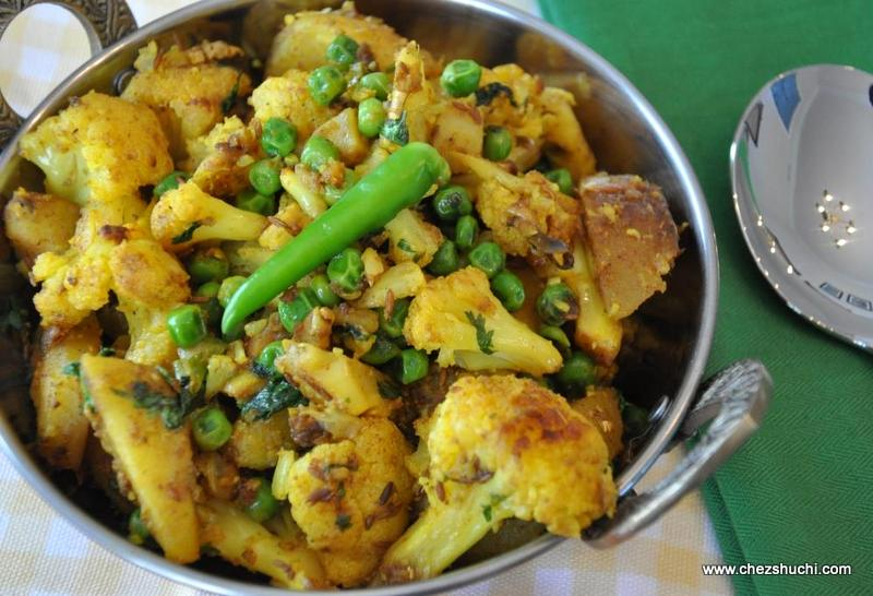 Frying Gobhi Aloo
