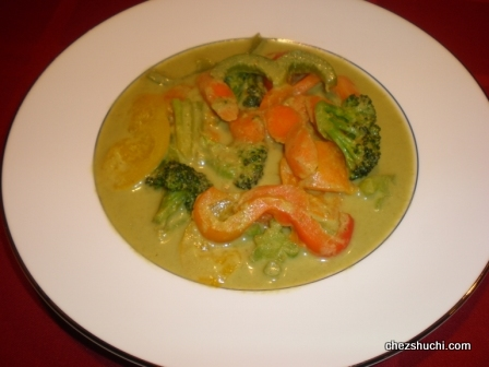 Vegetables in Green Curry