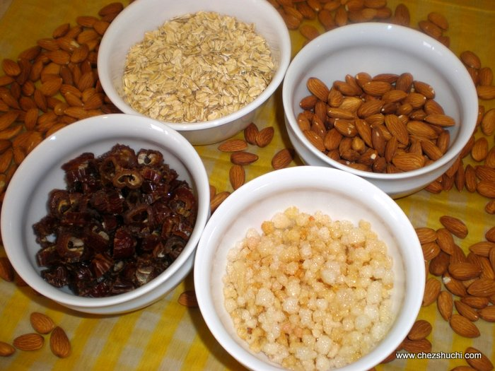ingredients for oat laddu