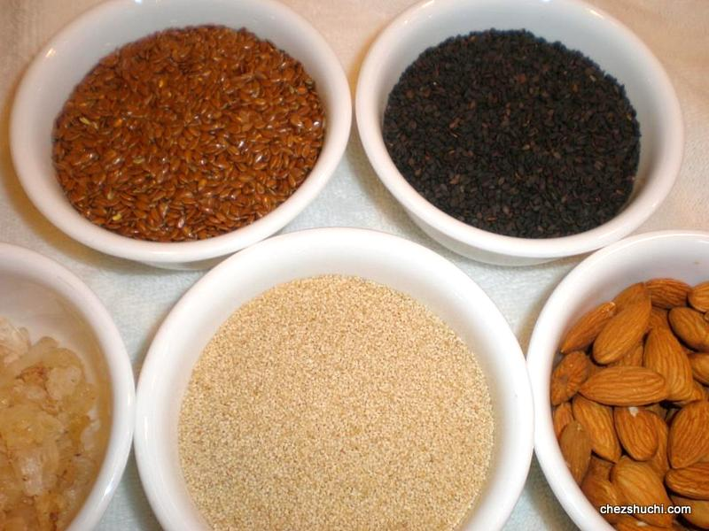 ingredients for flaxseed laddoo