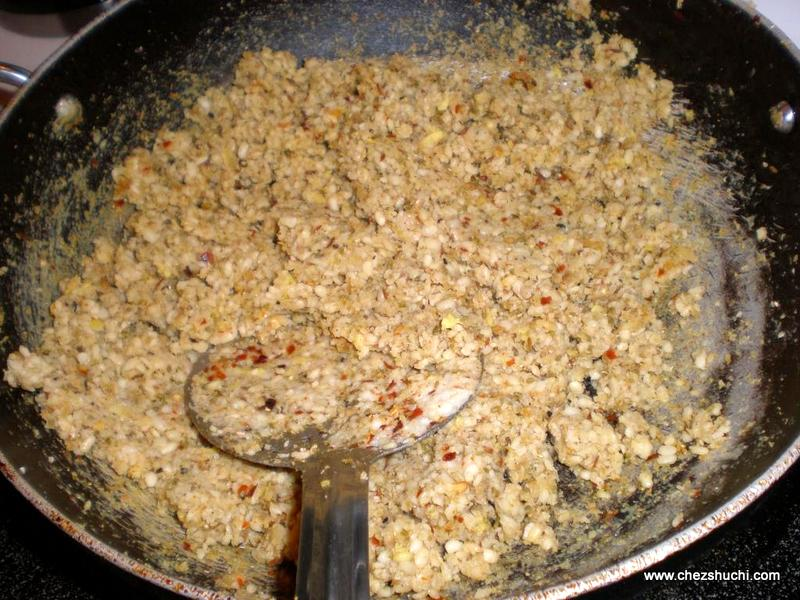 dal frying for kachauri