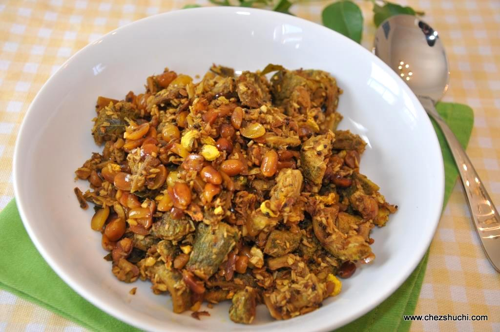 sweet and sour karela