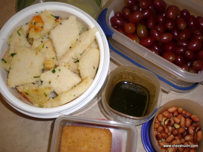 Khatta Dhokla for lunch box
