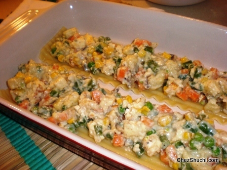 vegetable lasagna white sauce spinach
