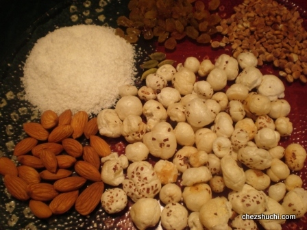 Dry fruits and coconut