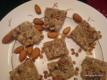Mewa Pag (Dry fruits dessert)