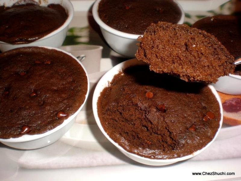 Chocolate Cupcakes made in Microwave
