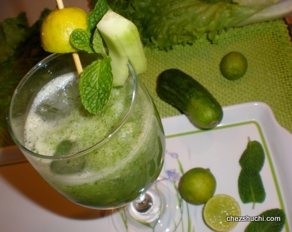 mint and cucumber sherbat