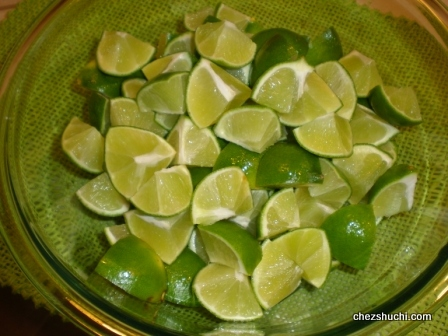 lime cut into small pieces