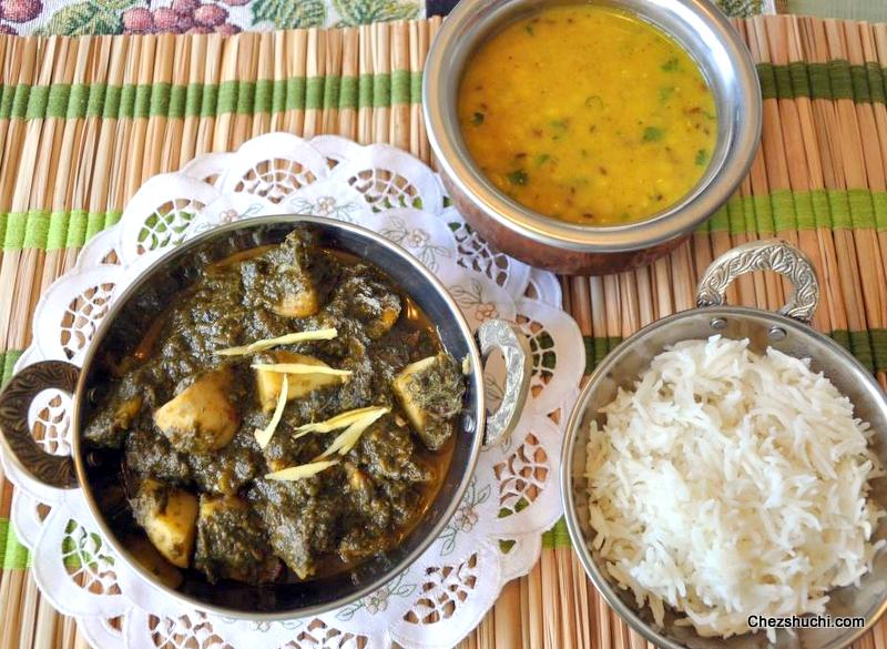 >Aloo Palak Curry