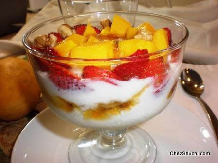 Mango Strawberry Yogurt