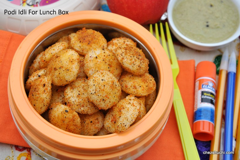 podi idli for lunch boxes