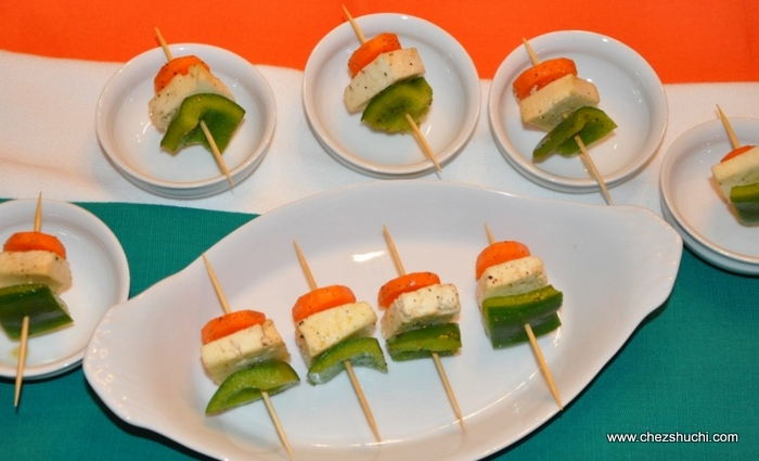 tri color skewers