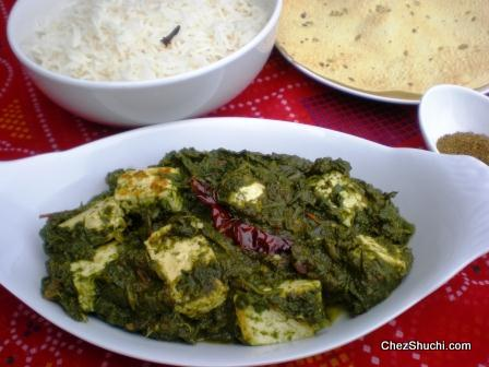 Saag Paneer with Rice