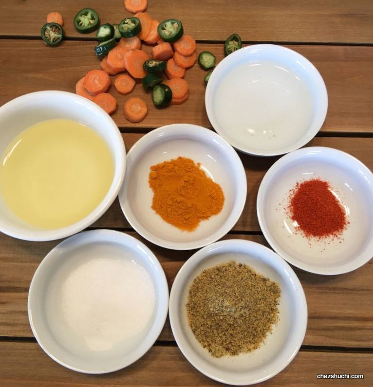 carrot and pepper pickle ingredients