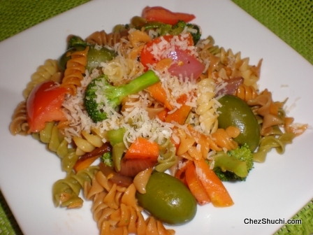 Rotini with vegetables