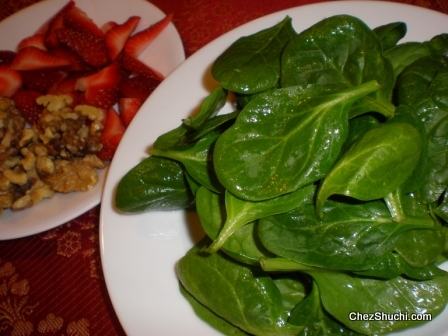 spinach straberry salad