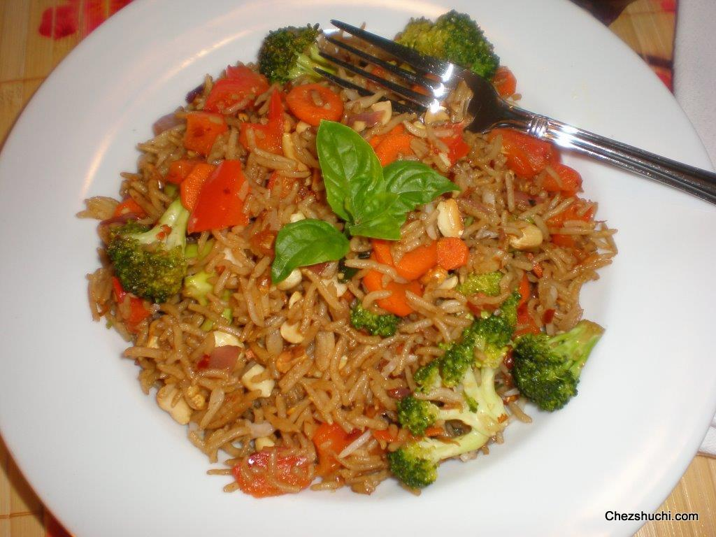 Thai-Style Fried Rice Recipe — Dishmaps