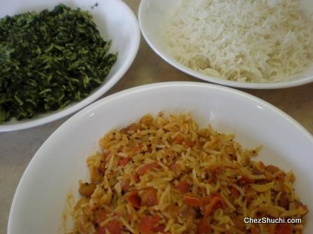 three color rice