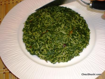 spinach rice layer