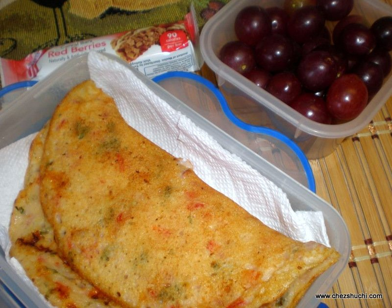 uttapam for lunch boxes