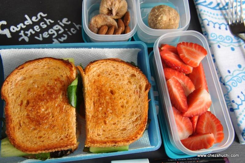 /garden fresh sandwich for lunch box